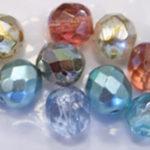Perle in vetro sfaccettate